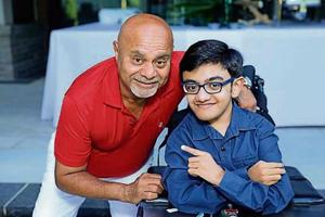 Sparsh Shah with Canada-India Foundation convenor Anil Shah in Toronto.