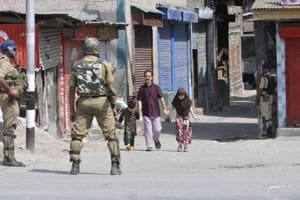 Separatists had given a call for strike across Kashmir on the second death anniversary of the Hizbul commander on Sunday.