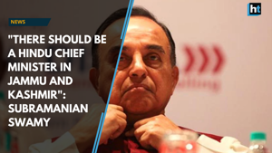 """""""There should be a Hindu Chief Minster in J&K"""": Subramanian Swamy"""