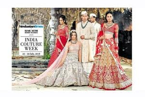 Models in Tarun Tahiliani creations from India Couture Week 2017.