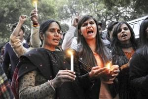 File photo of the mother of the Delhi gangrape victim during a protest rally at Jantar Mantar.