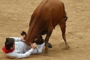 Photos: Pamplona's annual bull runs return, protests in tow