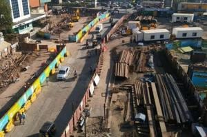 As Metro 7 extension is an underground one, it was a challenge to construct it below or above Metro 3, officials said.
