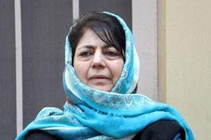 Peoples Democratic Party president Mehbooba Mufti during a party meeting in Jammu.