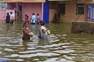 The rain water is yet to recede from  Virar, Vasai and Nallaspora.