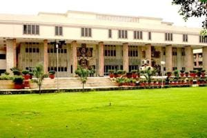 A file photo of the Delhi high court. HC was hearing a habeas corpus petition filed by the 30-year-old corporal's father, claiming that his son was being illegally confined at the Army Base Hospital.