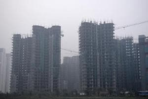A view of an under-construction building in Noida. The district administration has proposed to keep circle rates unchanged for homebuyers as well as commercial buyers.