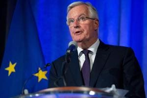 EU Chief Brexit Negotiator Michel Barnier speaks about the Brexit trade negotiations between the UK and EU at the US Chamber of Commerce in Washington on July 11, 2018.