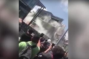 Watch | Moment Mexico mall collapses into twisted metal