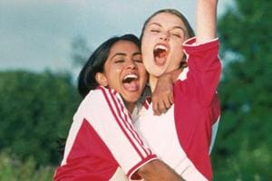 Keira Knightley and Parminder Nagra in a still from Gurinder Chadha's Bend it Like Beckham.
