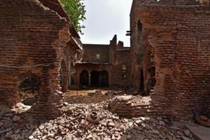 Photos: Restoration plans for Shahjahan's hunting lodge in Delhi's Jaunti village