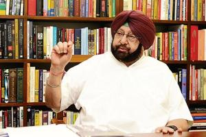 Chief minister Captain Amarinder Singh interacting with HT at his official residence in Sector 2, Chandigarh, on Friday.