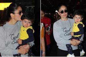 Kareena Kapoor Khan with her son Taimur.