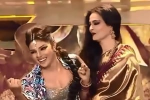 Priyanka Chopra and Rekha, two Bollywood icons, had a dance-off once upon a time.