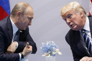 US president Donald Trump with Russian president Vladimir Putin at the G-20 Summit in Hamburg. The two leaders will be meeting in Helsinki, Finland, on July 16.