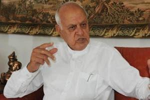 National Conference president Dr Farooq Abdullah in Srinagar.