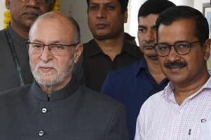 Delhi's L-G Anil Baijal(left) had returned the file on doorstep delivery of services in December 2017 but approved the scheme in January 2018.