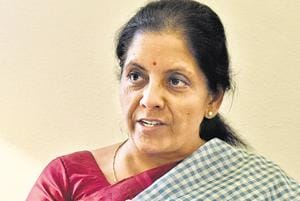Defence minister Nirmala Sitharaman during at interview with Hindustan Times at New Delhi.