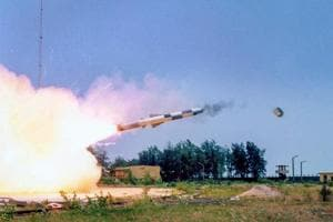 BrahMos, supersonic cruise missile successfully test fired as part of service life extension program, from the Integrated Test Range (ITR), in Balasore, on May 21, 2018.