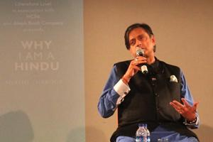 Shashi Tharoor during the launch of his book Why I am a Hindu at NCPA, in Mumbai, India, on April 18, 2018.