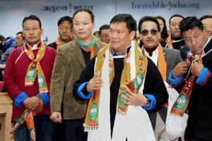 Pema Khandu heads the BJP government in Arunachal Pradesh.
