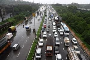 Motorists were stuck on the Sion-Panvel highway for five hours on Monday morning