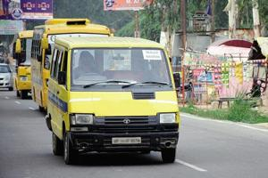 The transport department is said to have no legal mechanism at present to monitor school vehicles.