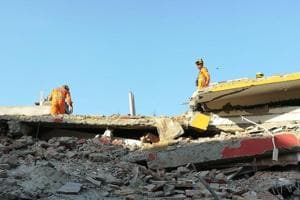 Rescue operations are on after two buildings collapsed in Greater Noida's Shahberi village on Tuesday night.