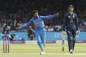\Kuldeep Yadav took nine wickets in the recently concluded three-match series against England.