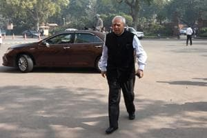 Congress Rajya Sabha MP and Former Union MInister Kapil Sibal during the Parliament Budget Session in New Delhi.