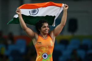 Indian wrestler Sakshi Malik won a bronze medal at the 2016 Olympic Games in Rio de Janeiro.