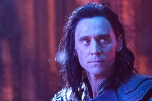 Tom Hiddleston as Loki in a still from Avengers: Infinity War.