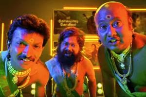 The Gibberish song from Kolamaavu Kokila is a twisted version of an item song.