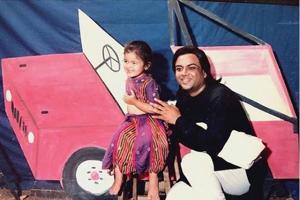 Alia Bhatt with Paresh Rawal while shooting for Tamanna.