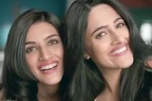 Kriti Sanon and Nupur Sanon are the stars of a new television commercial.