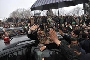 Mehbooba Mufti had on Friday warned the BJP against breaking her party.