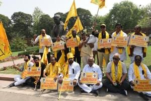 TDP MPs demand special status for Andhra Pradesh during the last budget session.