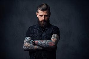 Tattooed hipster