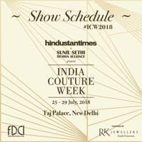 India Couture Week 2018 show schedule