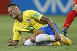 Neymar was widely lambasted at the World Cup 2018 for his theatrical reactions to challenges which often left the world's most expensive footballer wincing and rolling on the ground.