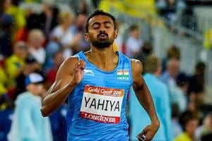 Muhammad Anas bettered his earlier time of 45.31 seconds with 45.24.