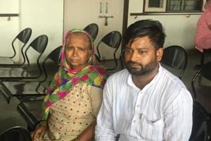 Wasim Malik along with his mother at the Chandigarh district courts.