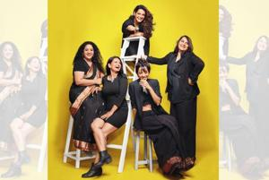 Marathi, Hindi and English theatre actors (from left) Rasika Agashe, Geetanjali Kulkarni, Faezeh Jalali, Yuki Ellias and Puja Sarup.  On Rasika: Sari,  Yewala boutique, Nashik.  On Geetanjali: Dress and shoes, Forever 21.  On Faezeh: Dress, 109°F; shoes from Clarks. On Yuki: Sarong from Manipur; jacket: Zara; tank top from Hill Road, Bandra; shoes from H&M. On Puja: Top, Zara; pants, Cottons; jacket, Elliza Donatein; shoes, Charles and Keith. Make-up: Stacy Gomes; hair: Avan Sethna