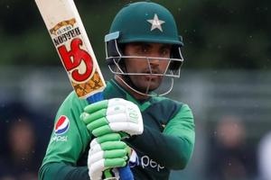 Fakhar Zaman in action for Pakistan during the fifth ODIencounter against Zimbabwe in Bulawayo.
