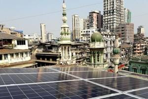 Forty-six solar power panels were installed at the Minara Masjid in south Mumbai. The set-up generates 45 kilowatt-hour (kWh) to 70 kWh solar power per day .