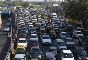 The elevated road is expected to reduce traffic on the Western Express Highway (in pic).
