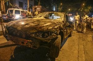 A Jaguar was also involved in a hit-and-run accident in Mumbai last month.