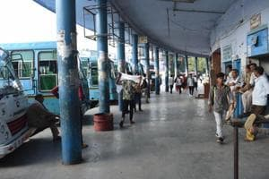 Located in sector 12, Gurugram's only bus stand continues to operate from the building that was declared unsafe in 2015.