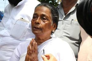 The CBI took over the probe in 2008, after Udayakumar's mother Prabhavati Amma (pictured) told the Kerala high court that the state police was dragging its feet on the investigation.