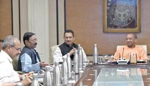 Adityanath was served water from a steel flask when he was chairing a state cabinet meeting.